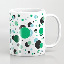 Fizzy Lifting Dots Emerald Coffee Mug