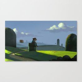 The Contemplative Plumber Canvas Print