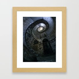 Spiral Staircase in blue and gray tones Framed Art Print