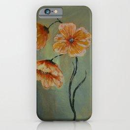 Golden California Poppies iPhone Case