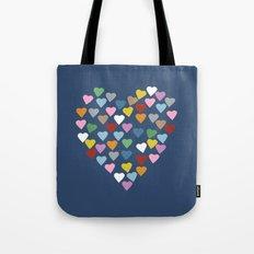 Hearts Heart Navy Tote Bag