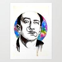 dali Art Prints featuring Dali by Clementine Petrova