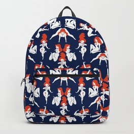 Pattern Pin-Up (blue) Backpack