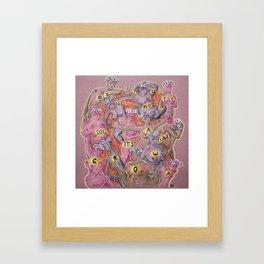 Flowercrown beauty Framed Art Print