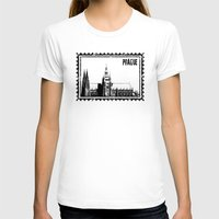 prague T-shirts featuring Prague castle by siloto