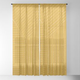 Lines / Yellow Sheer Curtain