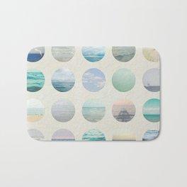 Ocean Polka dot  Bath Mat