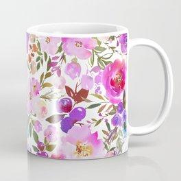 Elegant blush pink violet lavender watercolor summer floral Coffee Mug