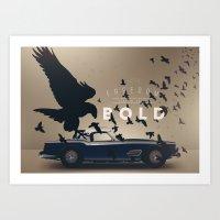 ferrari Art Prints featuring Ferrari by Seventy Two Studio