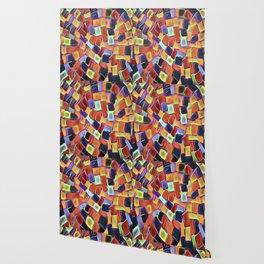 Colorful European Sidewalk Wallpaper