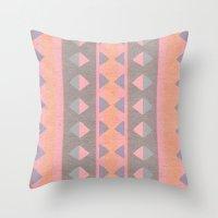 montana Throw Pillows featuring Montana Weave by The Velvet Owl Design Studio