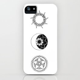 Sun, Moon and Star Mandalas iPhone Case
