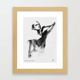 Figurine (Ink Painting) Framed Art Print