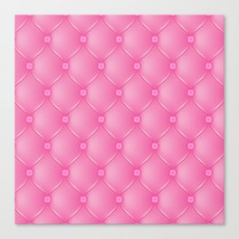 Pink Upholstery Pattern Canvas Print