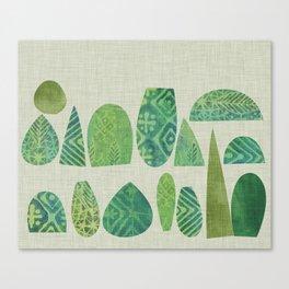 Watercolour Topiary Canvas Print