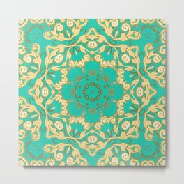 Cassy in Emerald Teal Metal Print