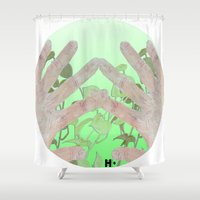 tote bag Shower Curtains featuring Bag by Art Barf
