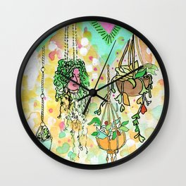 Hanging Plants with Robert Plant Wall Clock