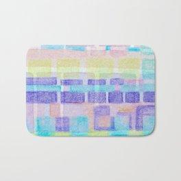 Watercolor pastels Bath Mat