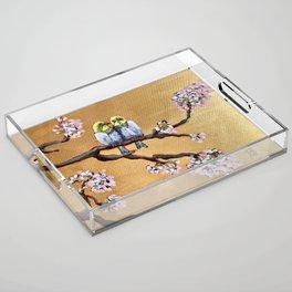 Cherry Blossom Chicks Acrylic Tray