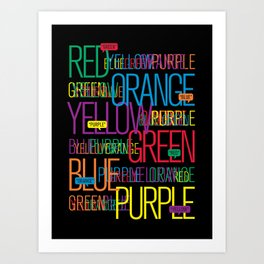 Say The Color Art Print