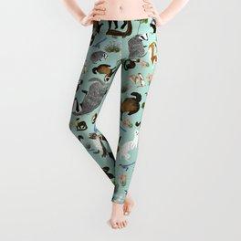 Mustelids from Spain pattern Leggings
