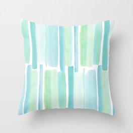 Beach Glass Throw Pillow