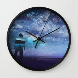 Constellation of the Dolphin by GEN Z Wall Clock