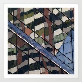 Manhattan Windows - Camouflage Art Print