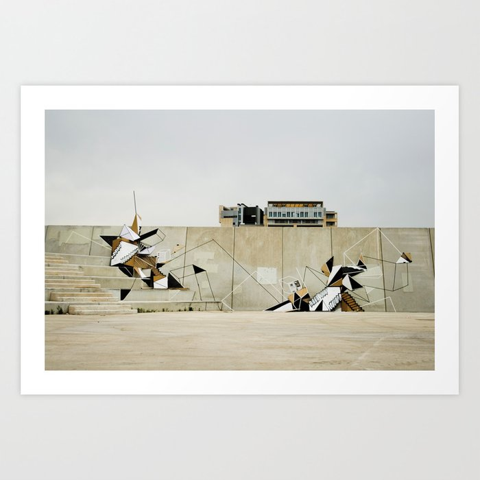 Diagonal Mar Art Print
