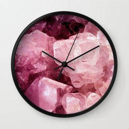 Crystal Rose Wall Clock