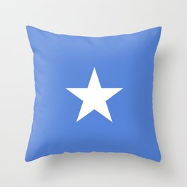 Somalia flag emblem Throw Pillow