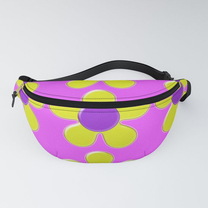 Spring Daisies Jelly Art - Lavender Yellow Pink Fanny Pack