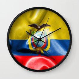 Ecuador Flag Wall Clock