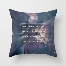 What Life Is All About - Doctor Who Throw Pillow