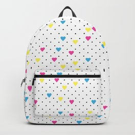 f184963cee7d7 Blue Polka Dots. by rare excitement. $69.99$69.99. Pin Point Hearts CMYK  Backpack