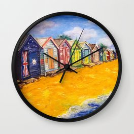 Beach Houses Wall Clock