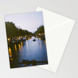 Amsterdam Canal in the Evening Stationery Cards