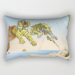 Salvador dali Dream caused by the flight of a bee around a pomegranate one second before waking up Rectangular Pillow