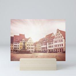Freiberg, Germany Town Square Mini Art Print
