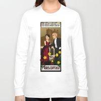 downton abbey Long Sleeve T-shirts featuring Downton Nouveau by mikaelak