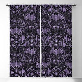 Bats and Beasts - ROYAL PURPLE Blackout Curtain