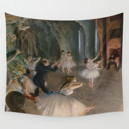 "Edgar Degas ""The Rehearsal Onstage"" Wall Tapestry"
