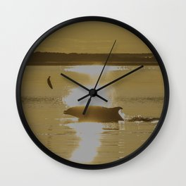 Early Dolphin gets the big fish Wall Clock