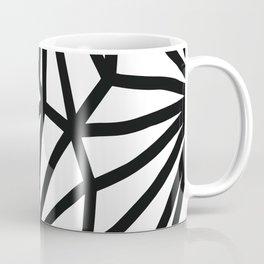 Modern Black and White geometric pattern #abstractart #decor Coffee Mug