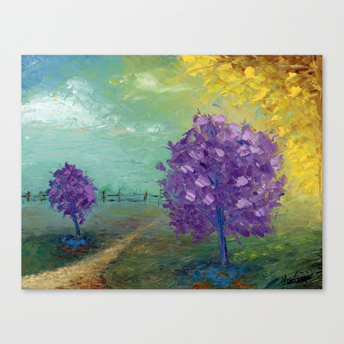 Purple Trees Path Canvas Print