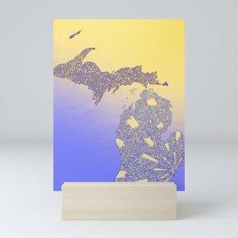 Michigan Maze Mini Art Print