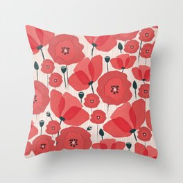 Poppies Throw Pillow