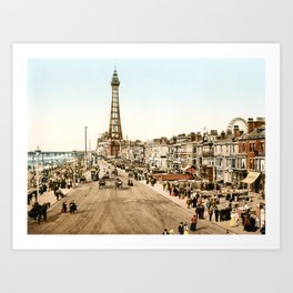 The Promenade at Blackpool, Lancashire, England 1898 Art Print