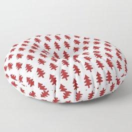 Hand drawn christmas trees Floor Pillow